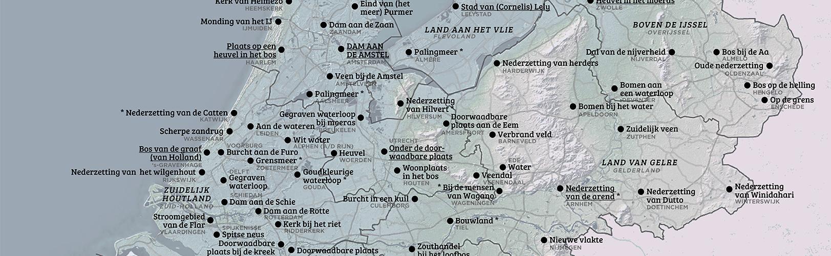 De etymologische kaart van Nederland